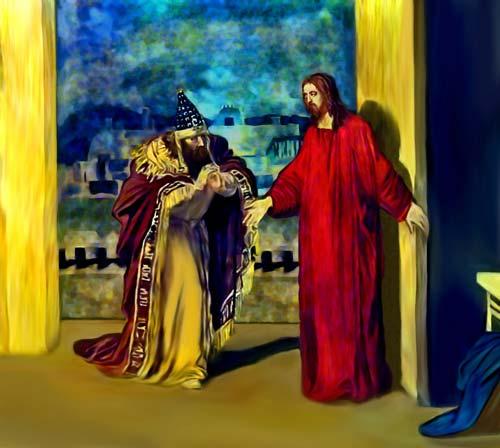 John3-1 christ and nicodemus sotka