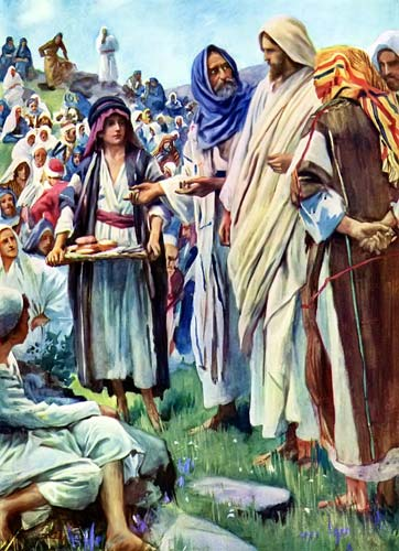 John6-9 boy with loaves and fishes