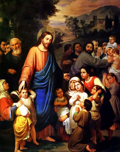 Matt10-16 suffer children come unto me urruchi